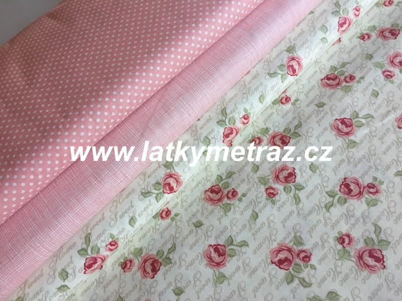 růžová kolekce-puntík-zbytek 95 cm
