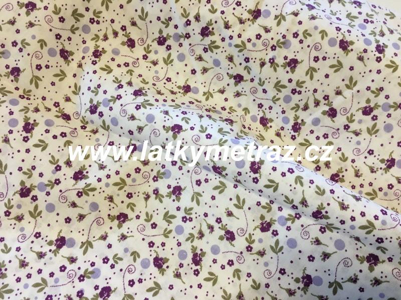 malé květinky-fialové