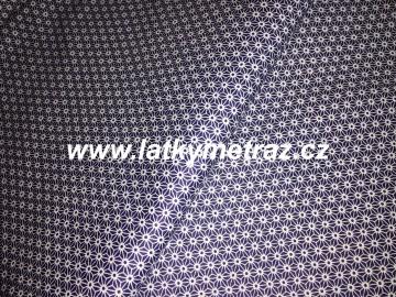86d10a879671 bílé vzory na tmavě modrém-zbytek 15 cm