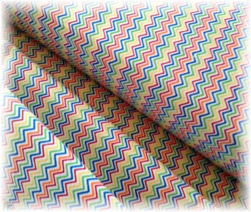 barevný chevron-zbytek 30 cm