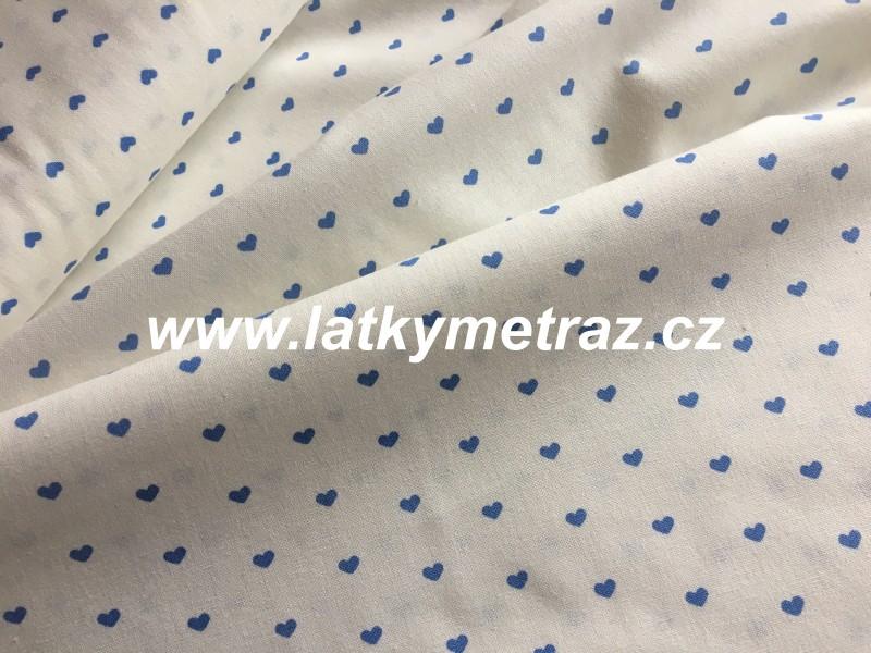 modrá kolekce-srdíčka-zbytek 65 cm
