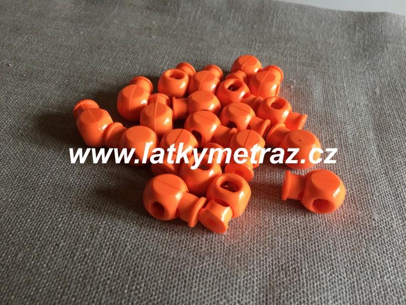 plastová brzdička--reflexní oranžová