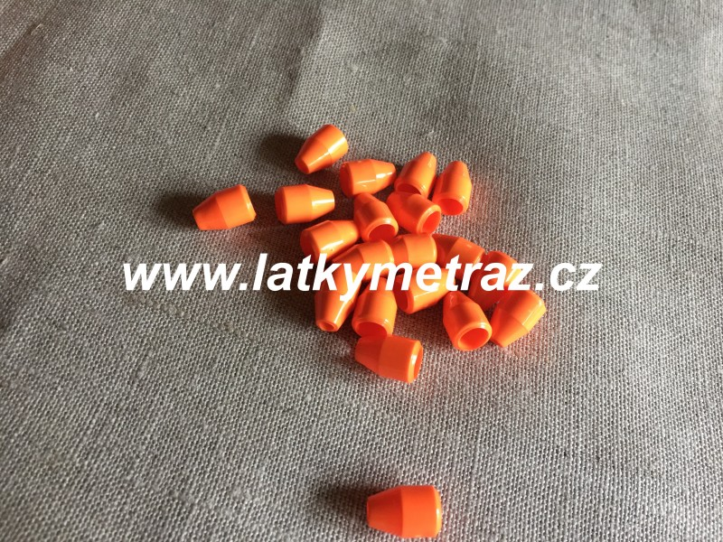 plastová koncovka--reflexní oranž