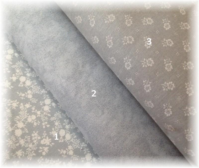 kolekce šedá-kytičky č.3-zbytek 50 cm