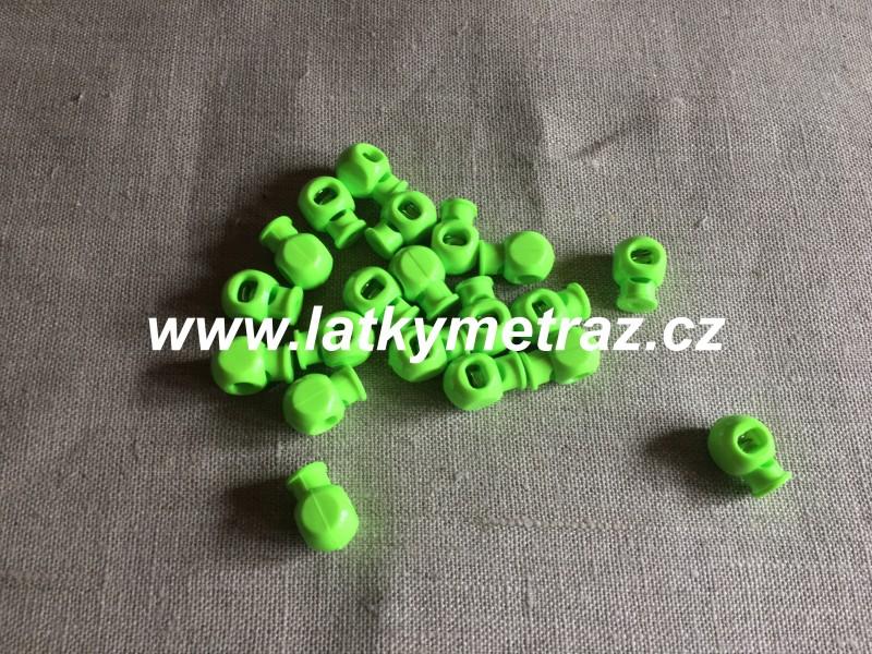 plastová brzdička--reflexní zelená