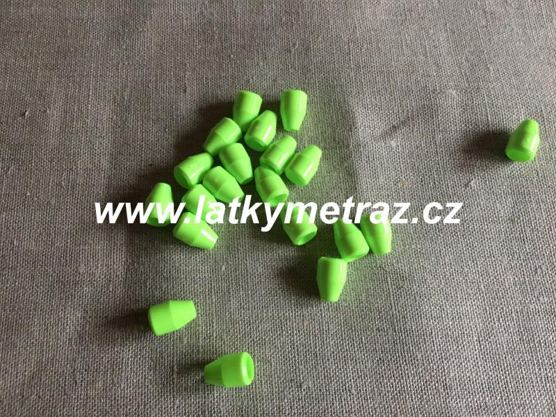 plastová koncovka--reflexní zelená