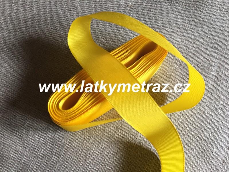 taftová stuha-žlutá 25 mm