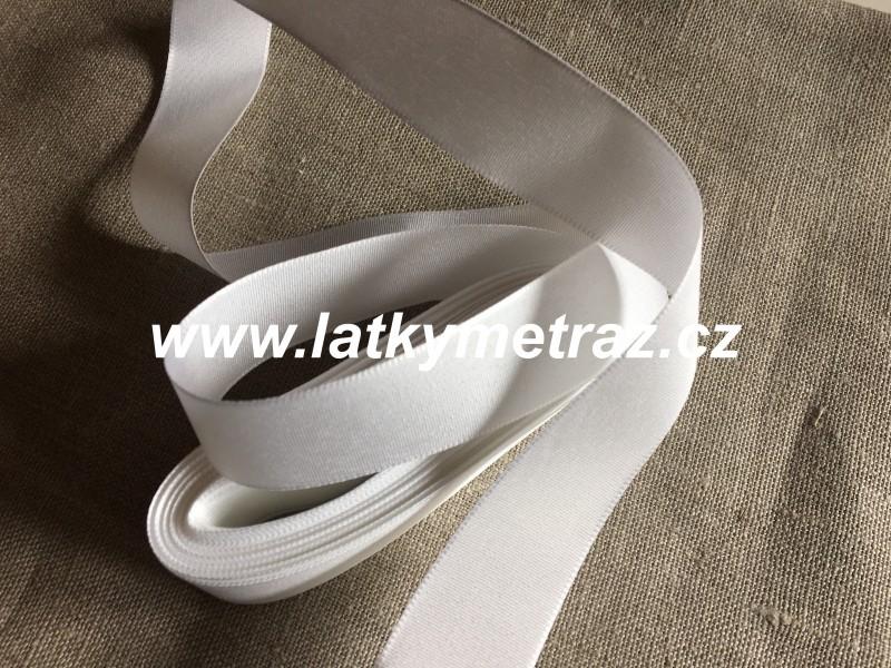 taftová stuha-bílá 25 mm