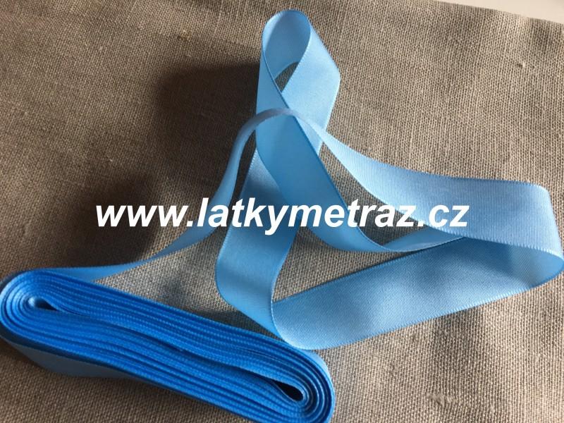 taftová stuha-modrá 25 mm
