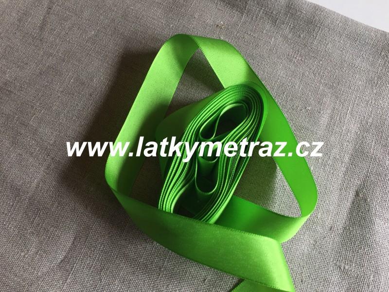 taftová stuha--zelená 25 mm