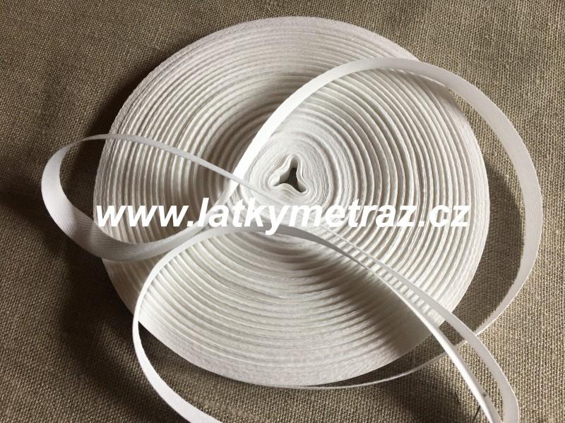 keprovka-tkaloun bílá šíře 10 mm