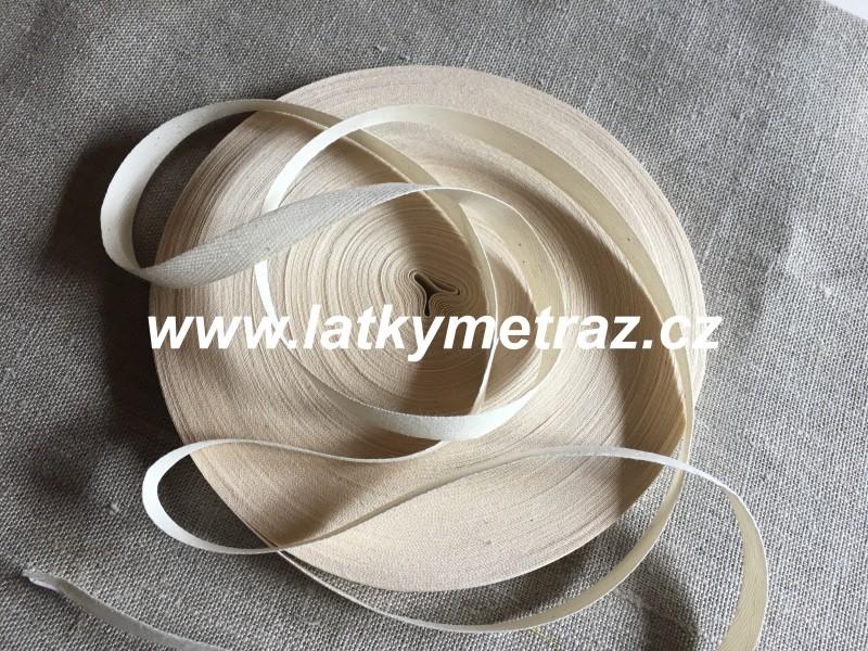 keprovka-tkaloun béžová šíře 10 mm