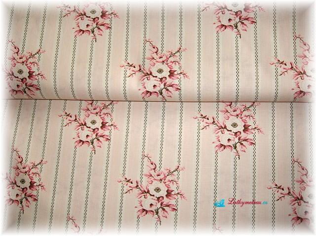 růžové kyti  na proužku -zbytek 50 cm