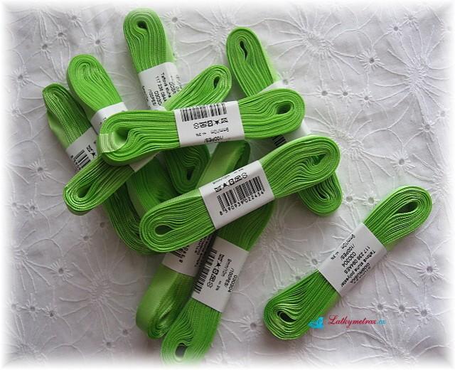 taftová stuha-zelená
