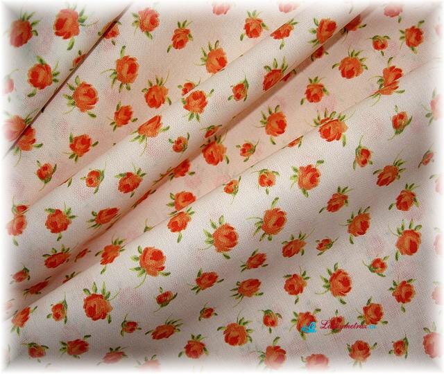 oranžovozelené  růžičky-zbytek 45 cm