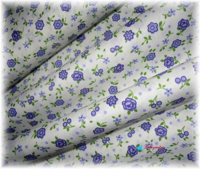 pravidelné kvítí-fialové-zbytek 44 cm
