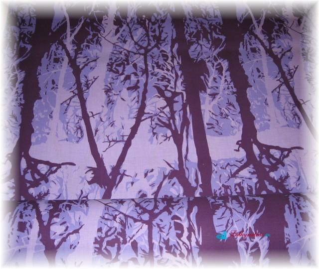 lístečky fialové-zbytek 1,75 m