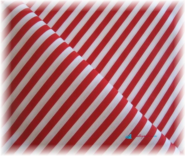 červenobílý proužek-hrubší-posledních 65 cm