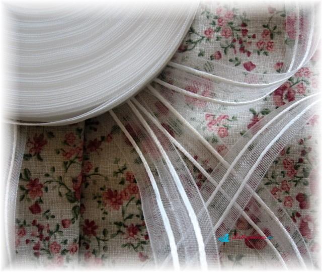 Záclonovka transparentní šíře 25 mm