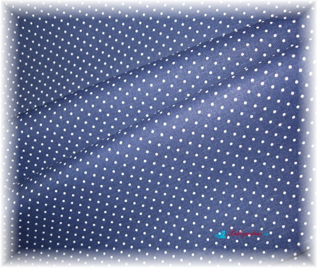 puntík na tmavě modré-menší