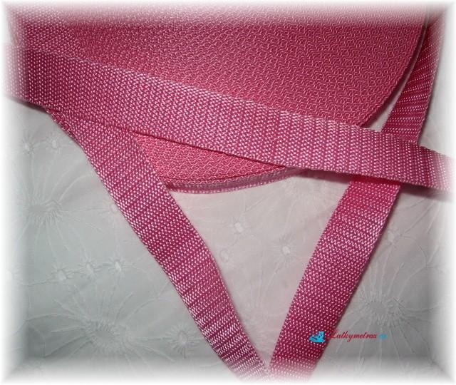 popruh-růžový-šíře 20 mm