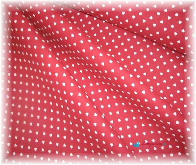 červené srdíčka drobné-zbytek 77 cm