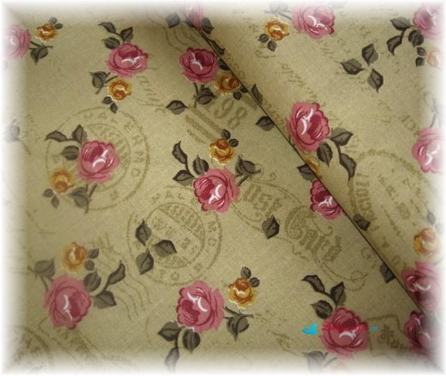 růže na béžovém s nápisy-zbytek 35 cm