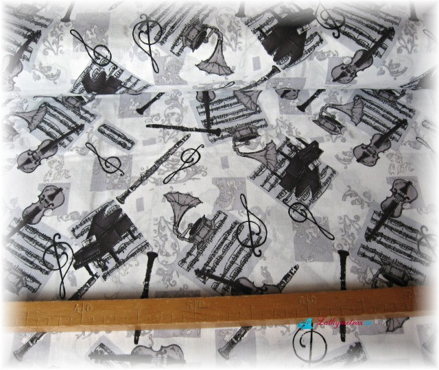 hudební nástroje šedé