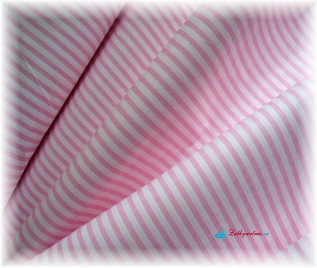 růžový proužek-šíře 3-4 mm-zbytek 60 cm