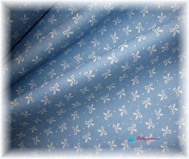 modrá-bílé mašle
