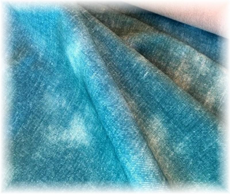 zimní softshell potisk jeans tyrkys-10/3
