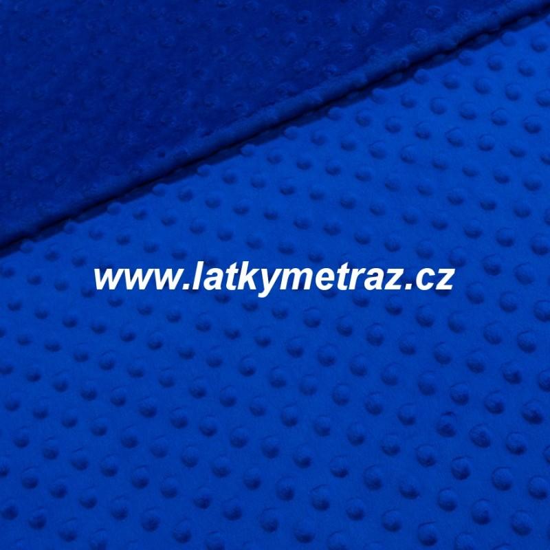 minky-modré tmavé-zbytek 54 cm