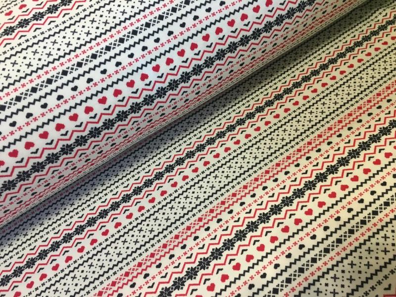 100% bavlněný úplet-norský vzor