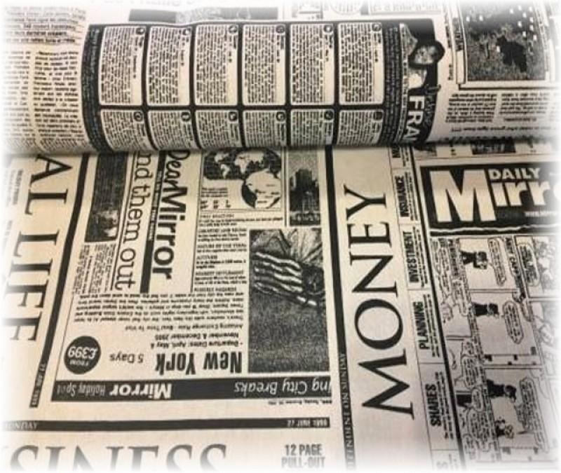 pevná látka-noviny-zbytek 85 cm