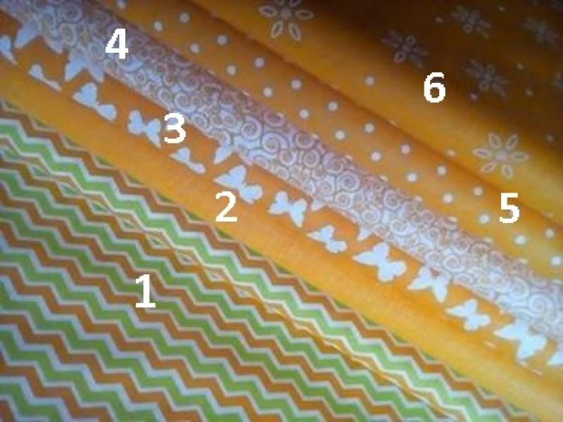 jarní kolekce-oranžovo-žlutá č.3-motýl