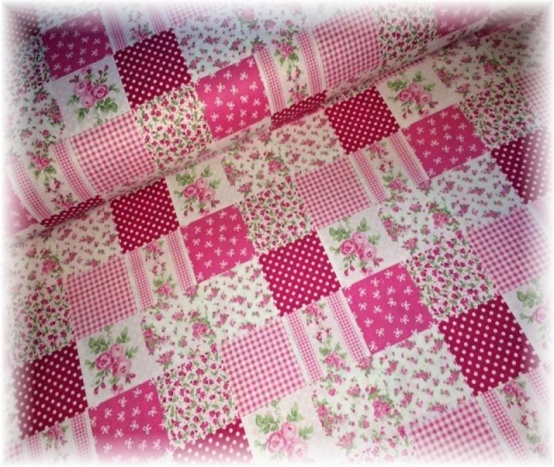 patchwork--růžový-zbytek 1,50 cm