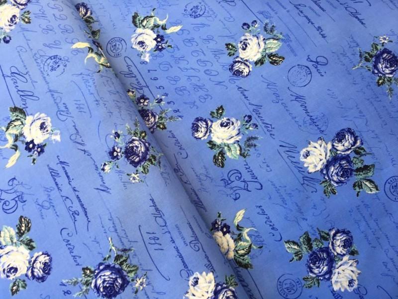 stof růže s písmem