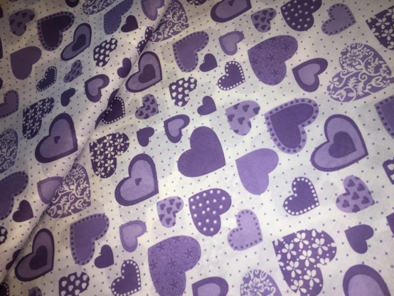 fialové srdíčka