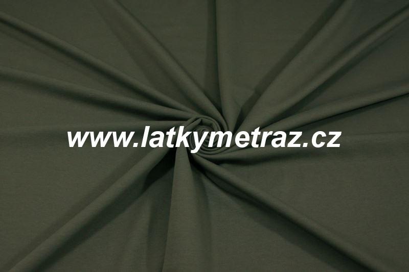 teplákovina-khaki-zbytek 75 cm