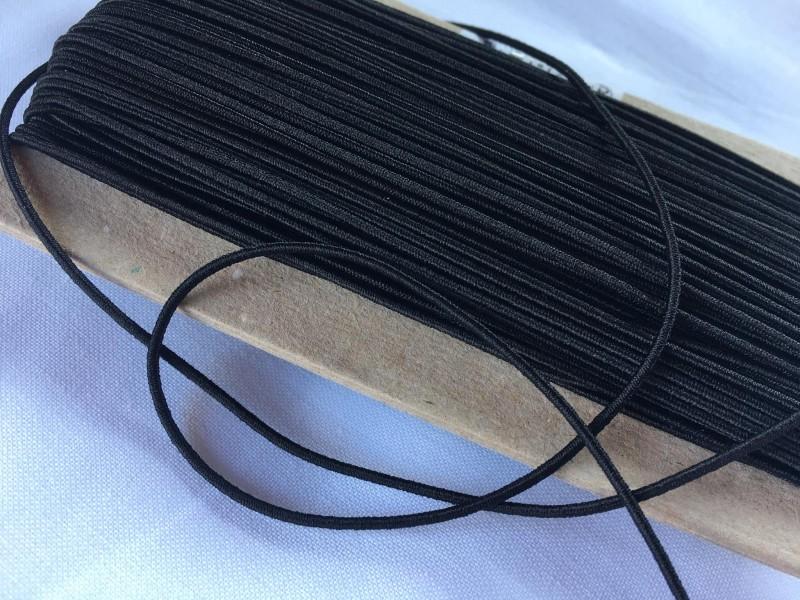 klobouková guma 1,4 mm-černá