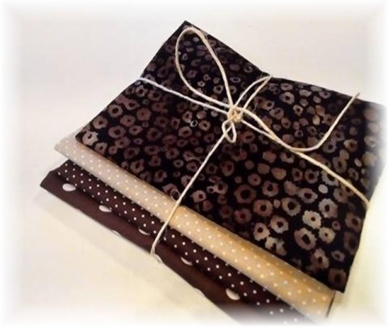 béžovo-tmavě hnědý balíček-4 x 30 cm