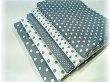 balíček látek šedý  5 x 50 cm