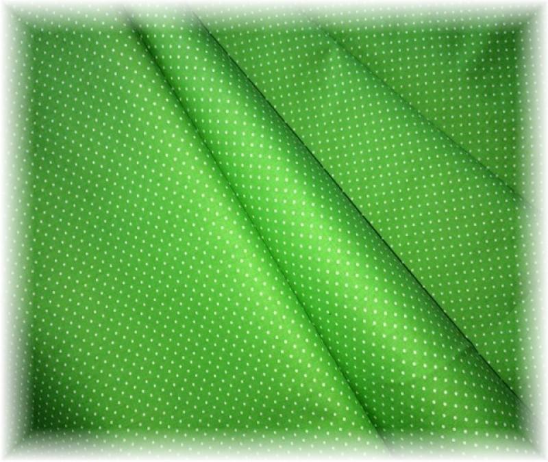 zelený puntíček-drobný